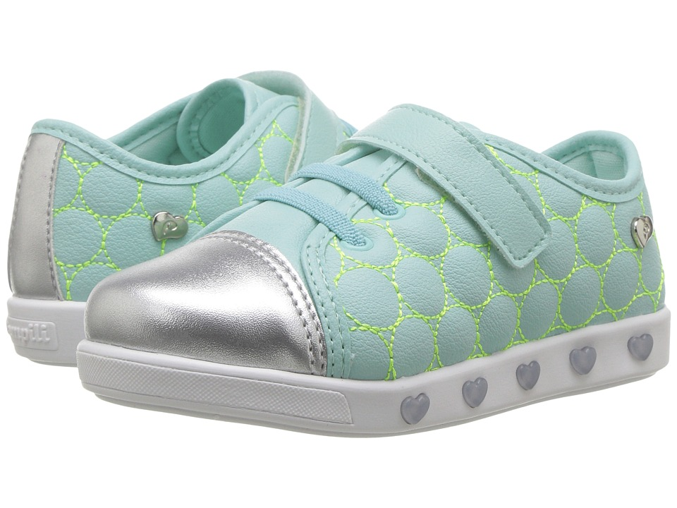 Pampili - Sneaker Luz 165001 (Toddler/Little Kid) (Mint Green) Girl's Shoes