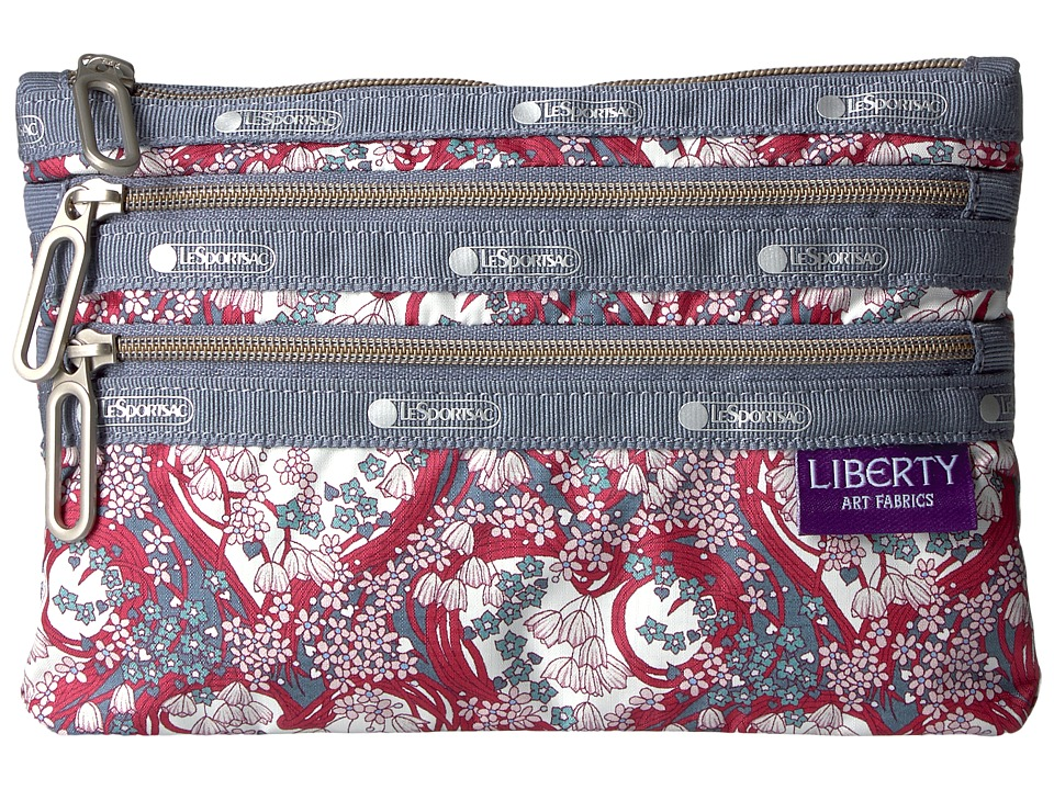 LeSportsac - Classic 3 Zip Pouch (Amy Jane) Bags