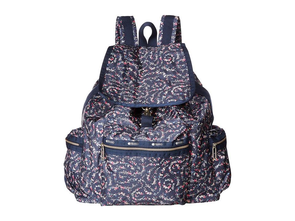 LeSportsac - 3-Zip Voyager (Fairy Floral Blue) Handbags