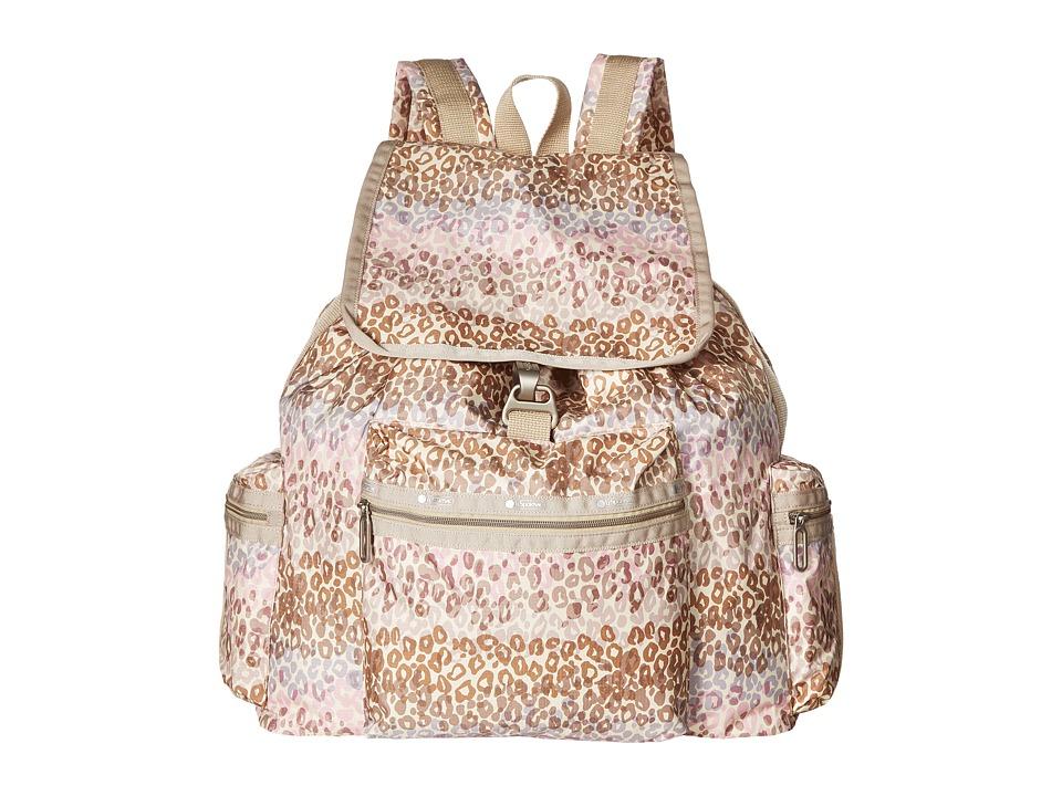 LeSportsac - 3-Zip Voyager (Cheetah Cascade) Handbags