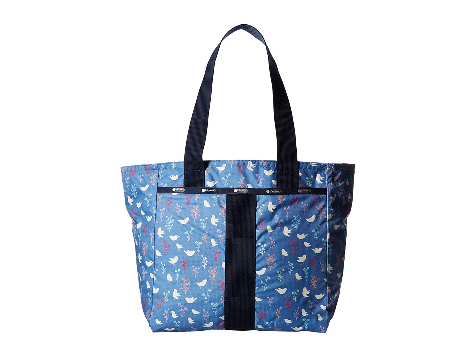 LeSportsac - Everyday Tote (Song Birds Blue) Tote Handbags