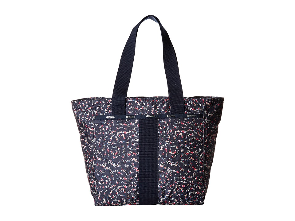 LeSportsac - Everyday Tote (Fairy Floral Blue) Tote Handbags