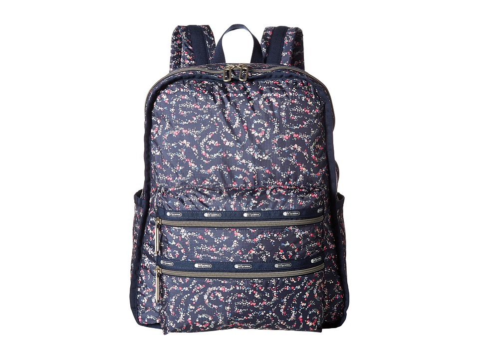 LeSportsac - Functional Backpack (Fairy Floral Blue) Backpack Bags