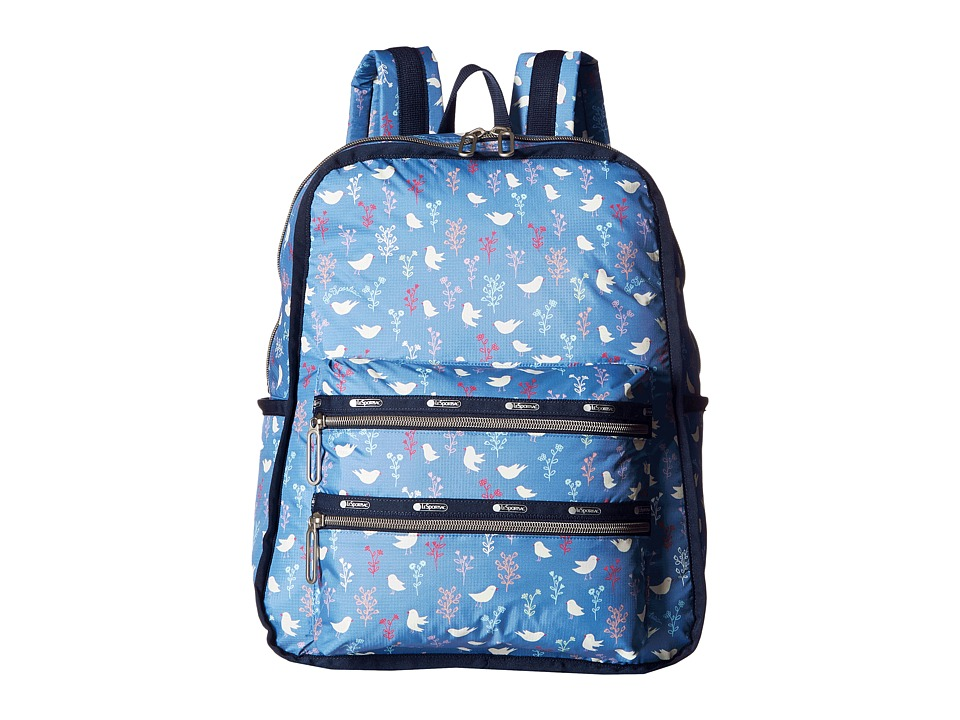 LeSportsac - Functional Backpack (Song Birds Blue) Backpack Bags