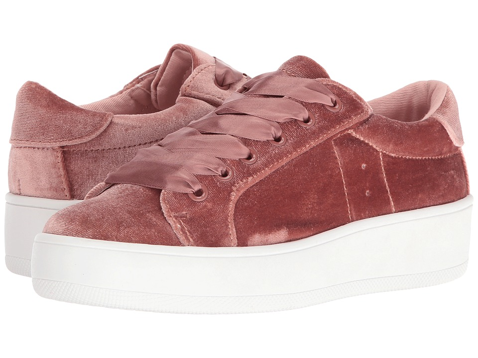 Steve Madden Bertie V (Blush Velvet) Women's Shoes