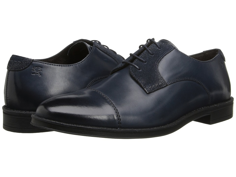 Stacy Adams - Caldwell (Navy) Men's Lace Up Cap Toe Shoes