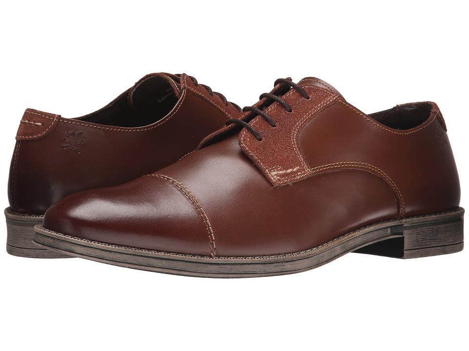 Stacy Adams - Caldwell (Cognac) Men's Lace Up Cap Toe Shoes