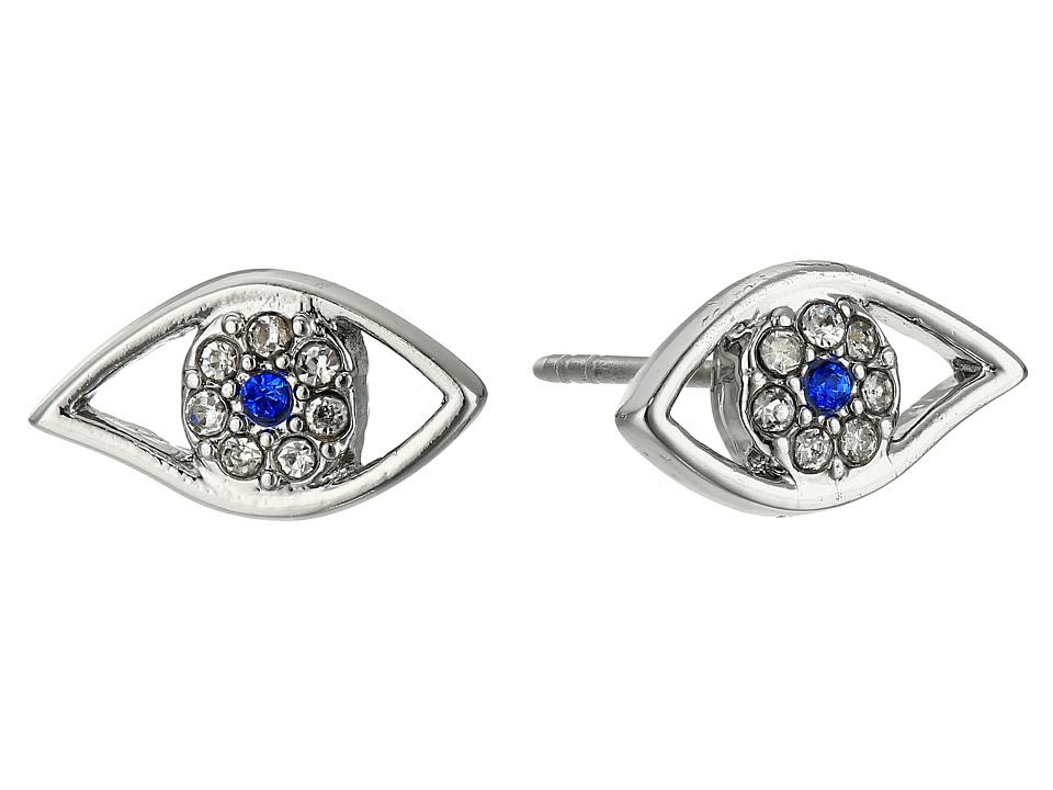 Rebecca Minkoff - Evil Eye Stud Earrings (Silver) Earring
