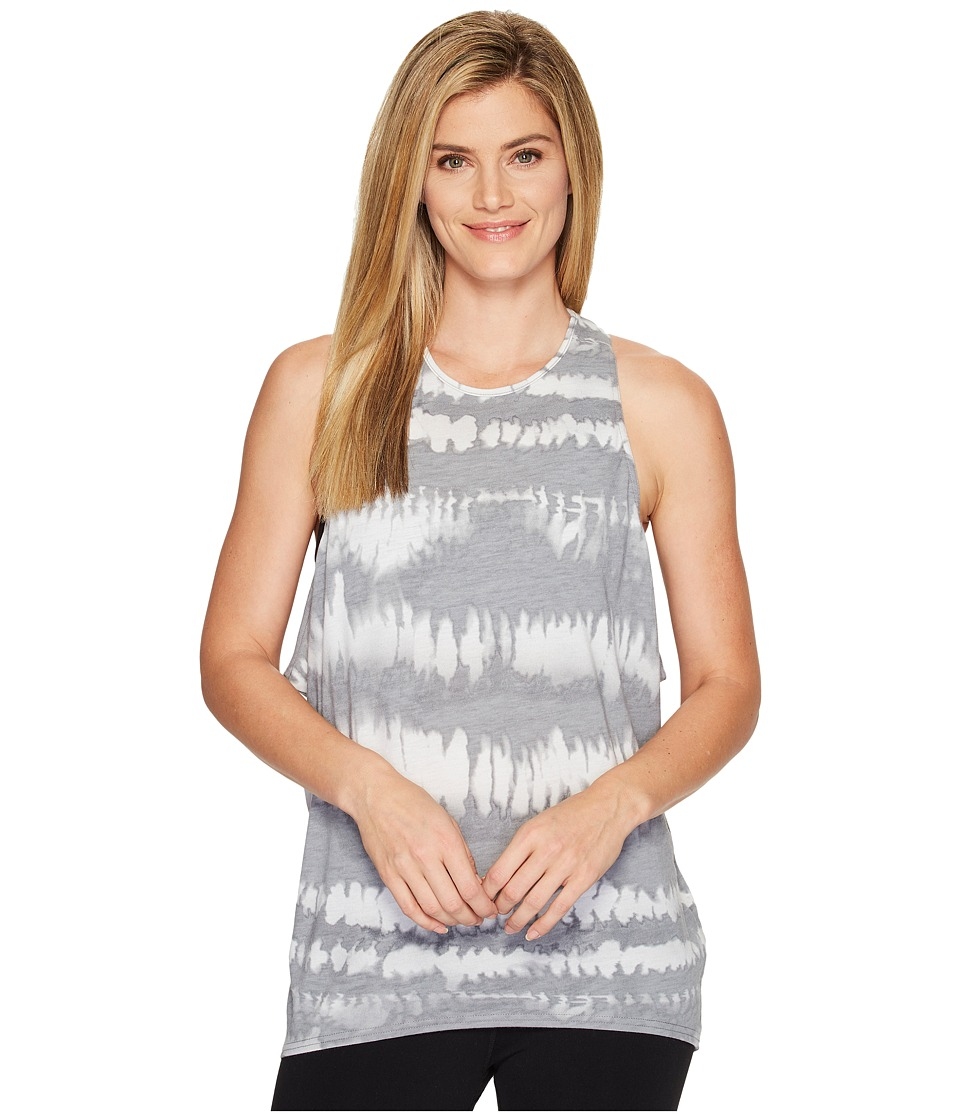 Lucy - Keep Calm Tank Top (Silver Filigree Fire Dance Print) Women's Sleeveless