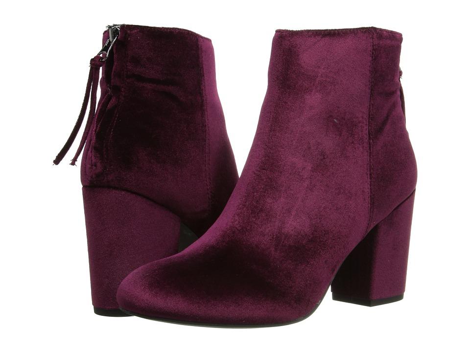 Steve Madden - Cynthiav (Burgundy Velvet) Women's Boots