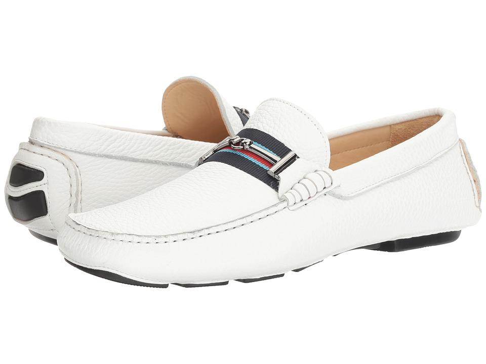BUGATCHI - Monza Driver (Bianco) Men's Shoes