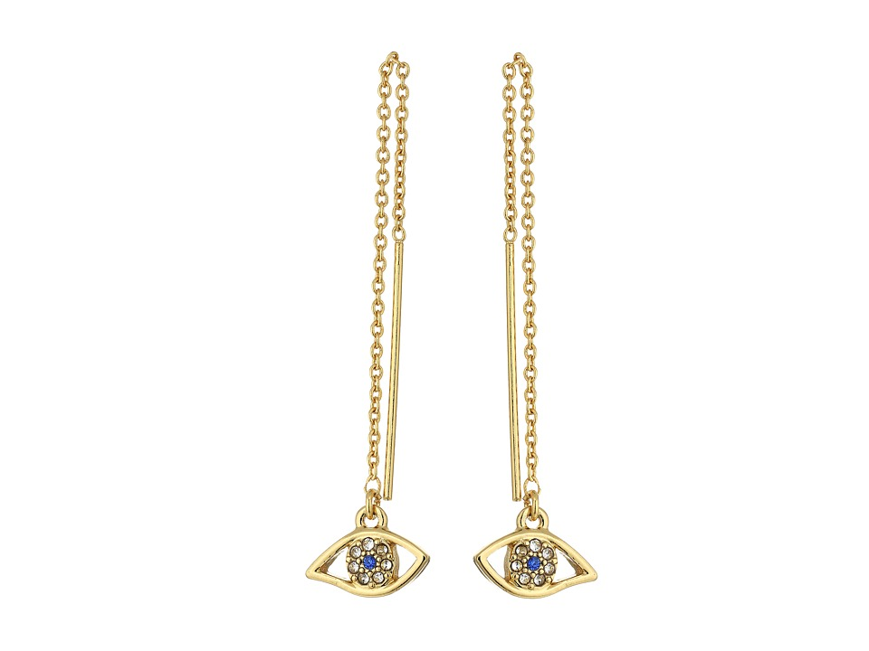 Rebecca Minkoff - Evil Eye Threader Earrings (Gold) Earring