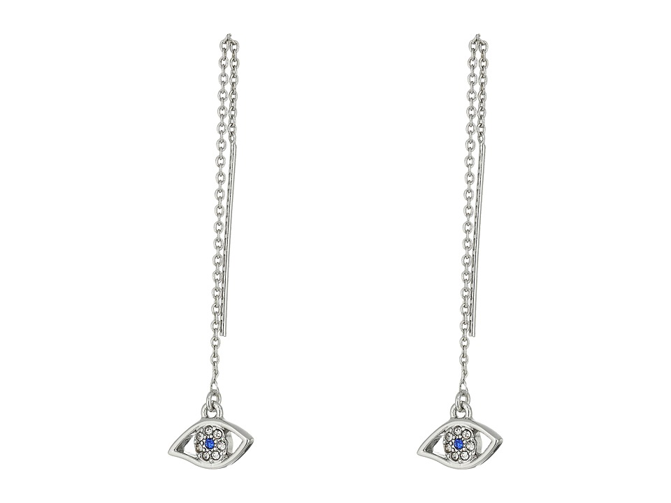 Rebecca Minkoff - Evil Eye Threader Earrings (Silver) Earring