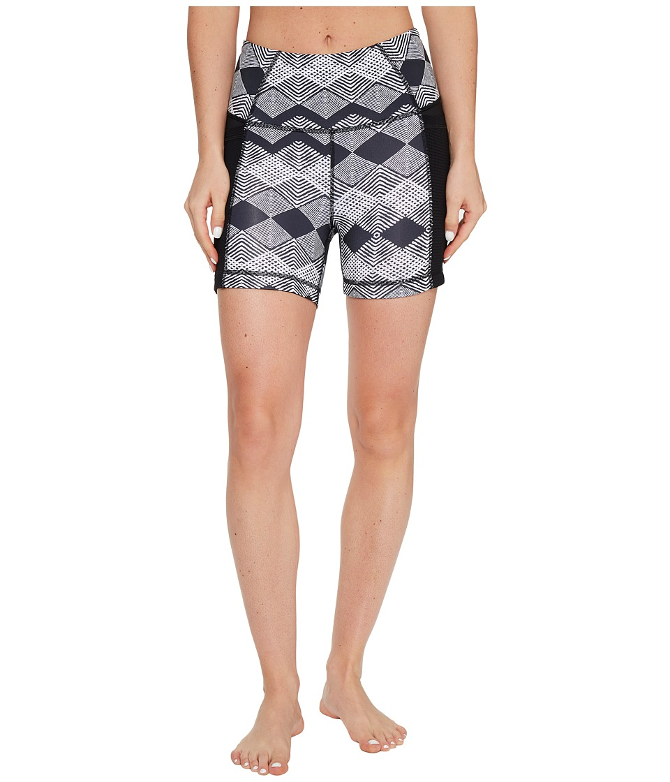 Lucy - Yoga Flow Shorts (Lucy Black Deco Diamond Print) Women's Shorts