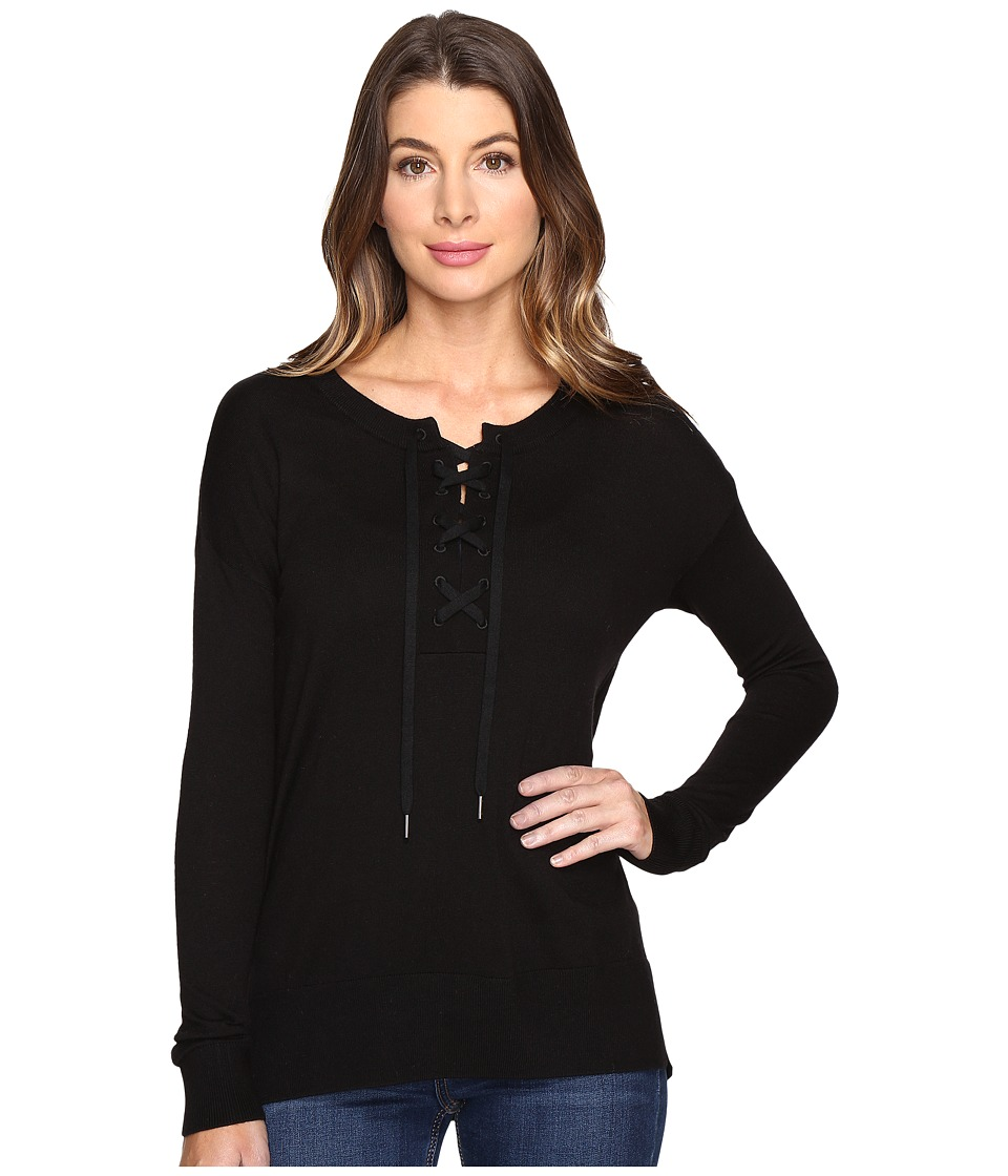 Splendid - Lakewood Henley Pullover (Black) Women's Long Sleeve Pullover