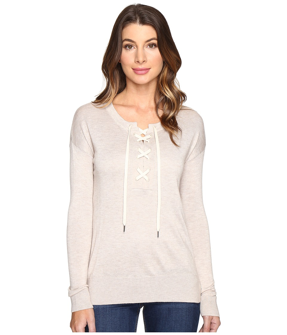 Splendid - Lakewood Henley Pullover (Heather Wheat) Women's Long Sleeve Pullover
