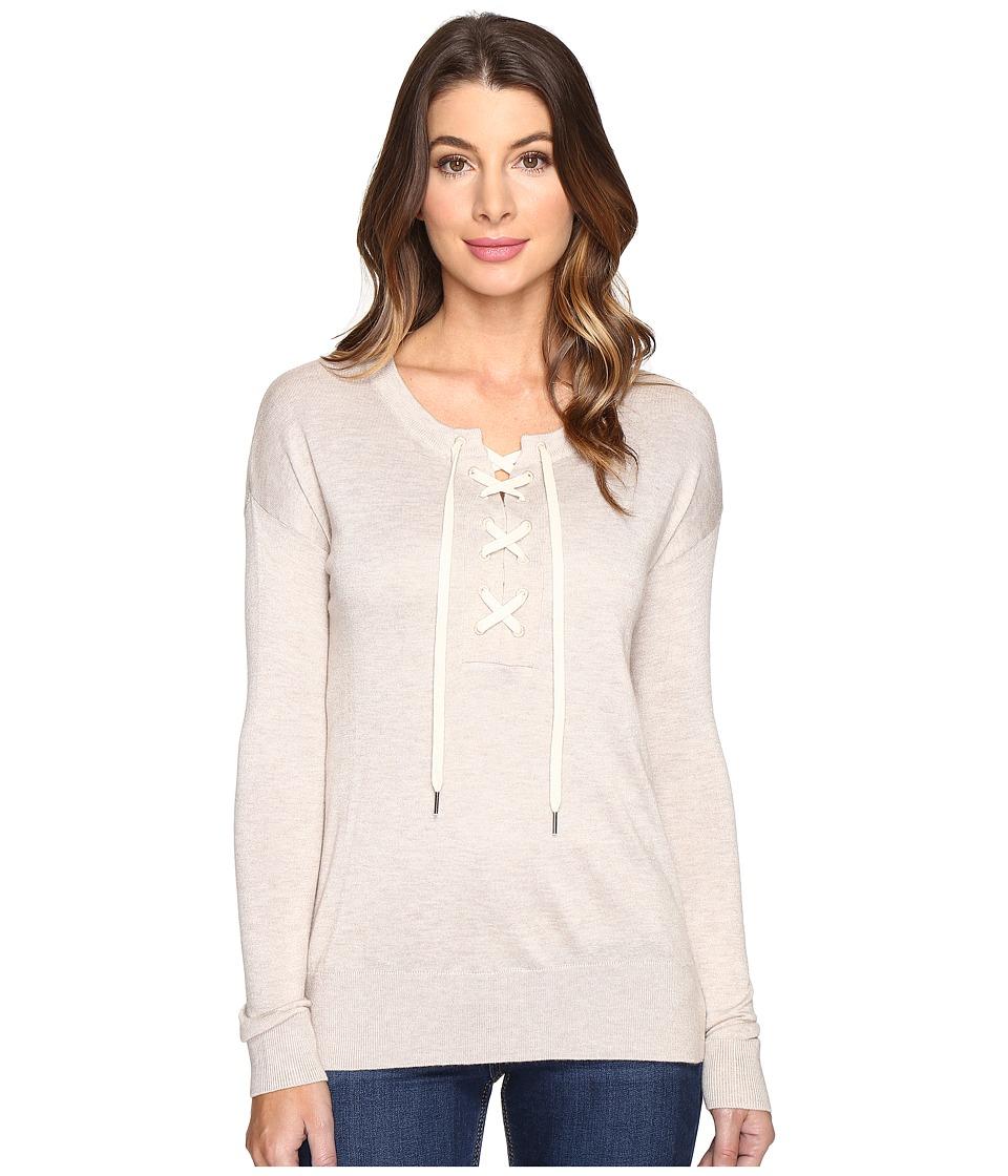 Splendid - Lakewood Henley Pullover (Heather Wheat) Women's Long Sleeve Pullover