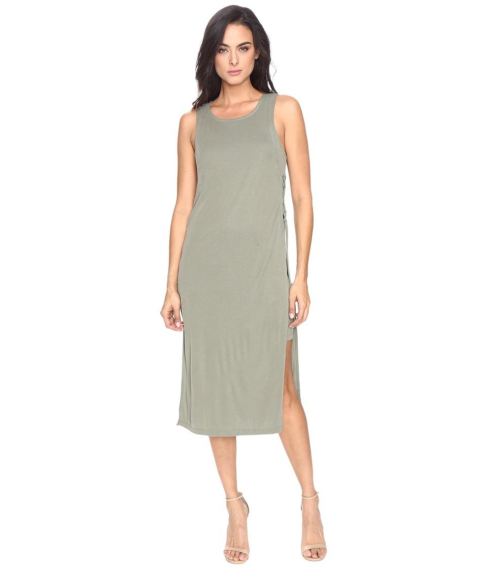 Splendid - Sandwash Rib Dress (Moss) Women's Dress