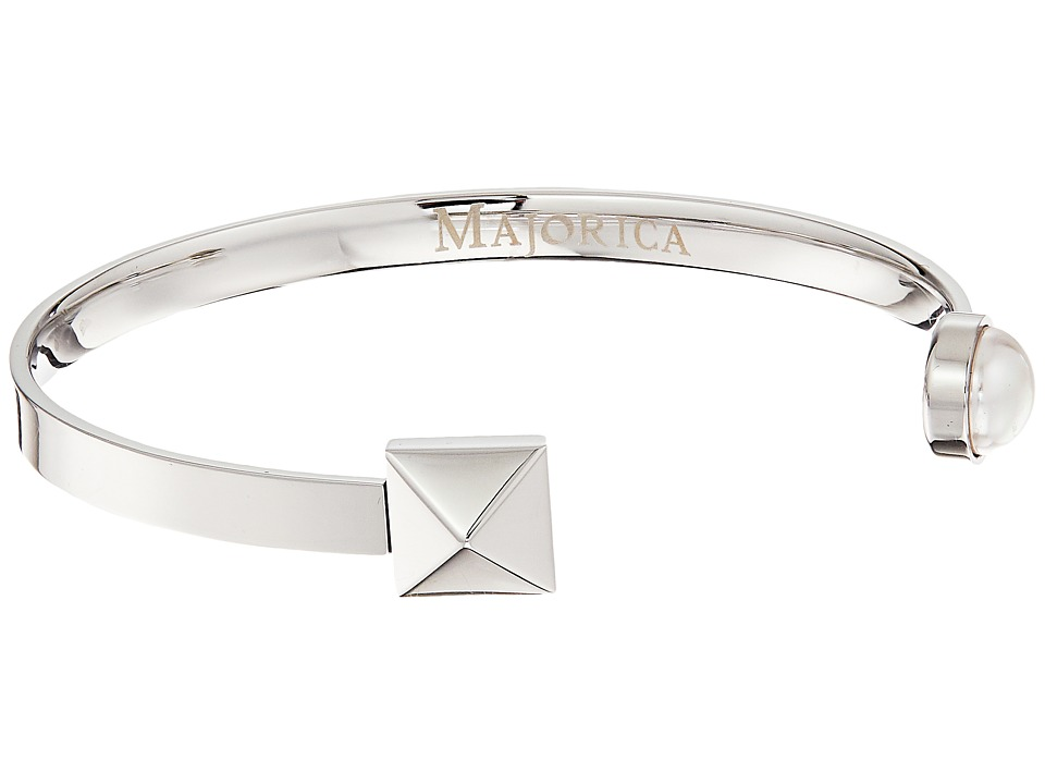 Majorica - Why Not? Silver Bangle (White) Bracelet