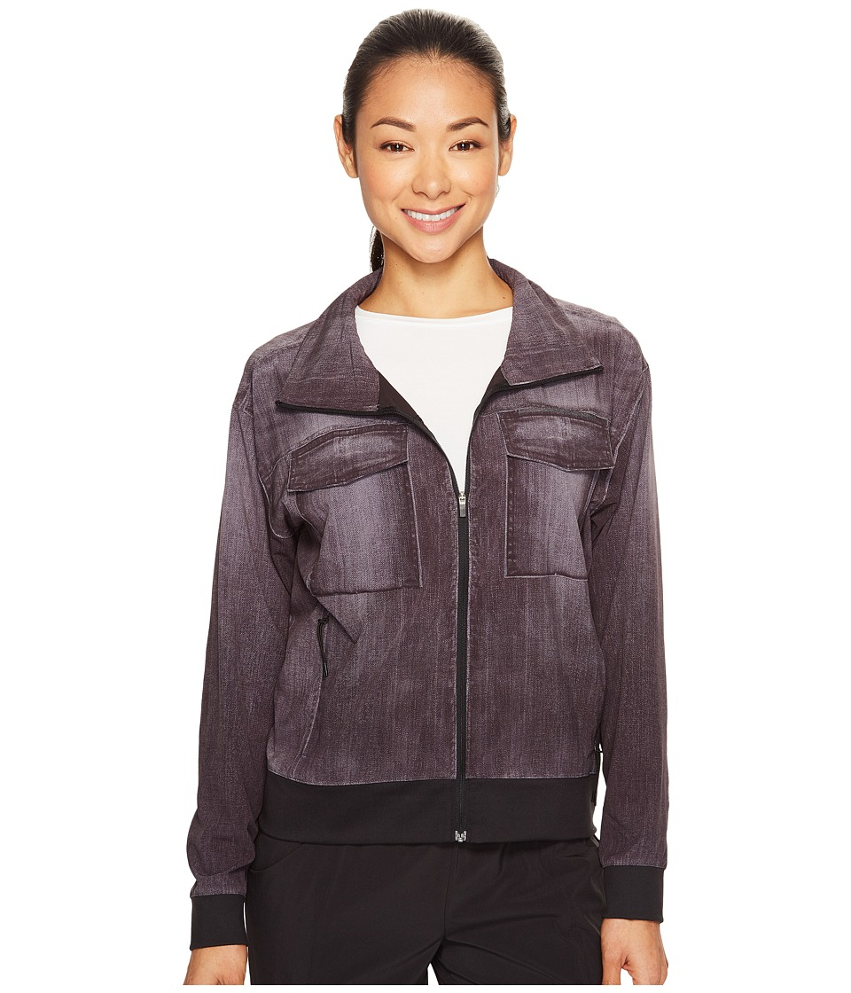 Lucy - Indigo Trucker Jacket (Black Indigo) Women's Coat
