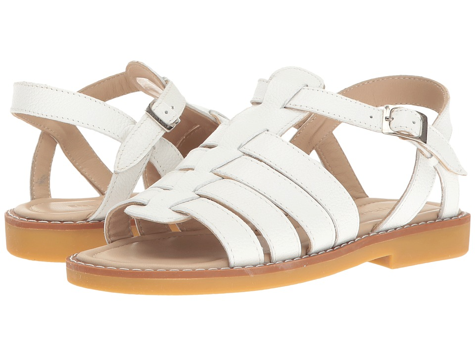 Elephantito - Capri Sandal (Toddler/Little Kid/Big Kid) (White) Girl's Shoes