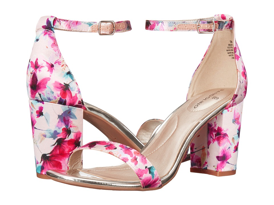 Bandolino - Armory (Medium Pink Vibrant Floral Shiny Satin) Women's Sandals