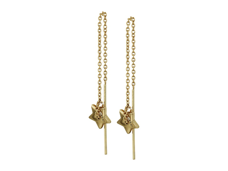 Rebecca Minkoff - Star Threader Earrings (Gold) Earring