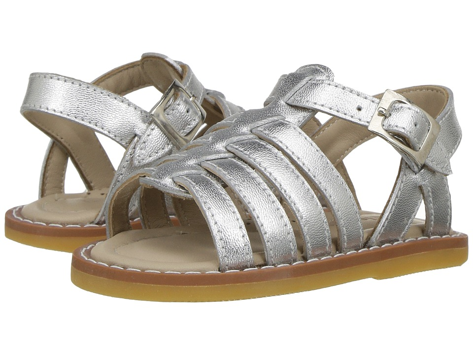 Elephantito - Capri Sandal (Toddler) (Silver) Girl's Shoes