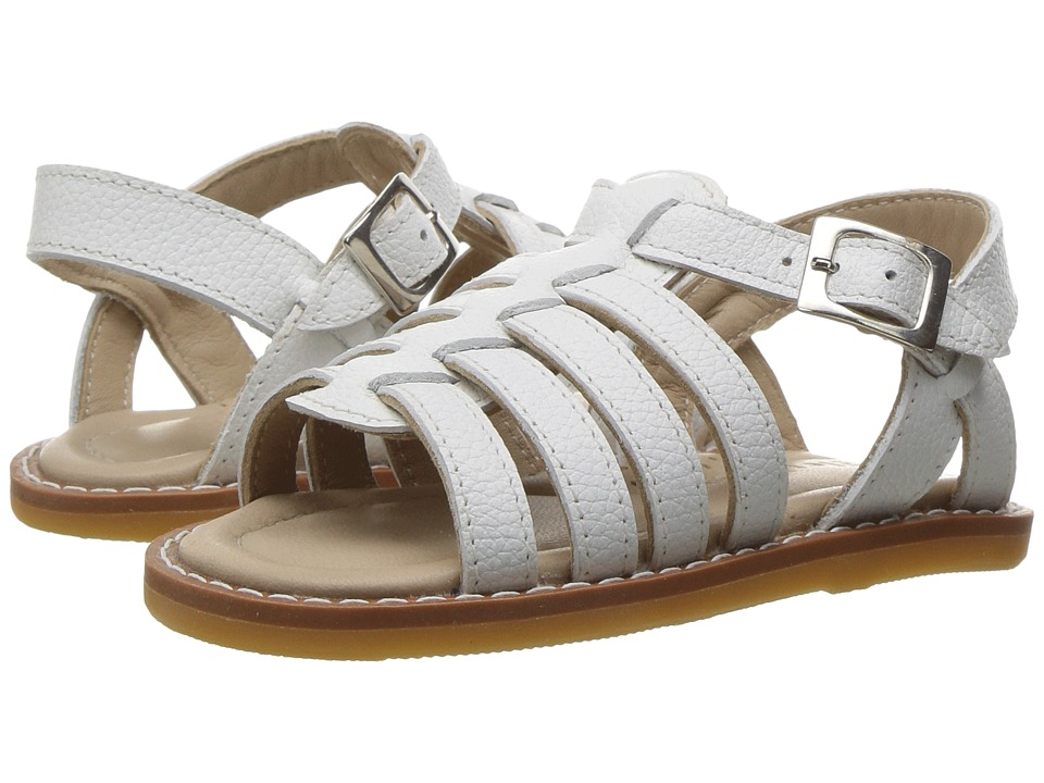 Elephantito - Capri Sandal (Toddler) (White) Girl's Shoes
