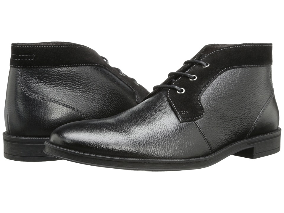 Stacy Adams - Cagney (Black Tumbled) Men's Plain Toe Shoes