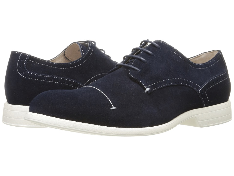 Stacy Adams - Wilcox (Navy Suede) Men's Lace up casual Shoes