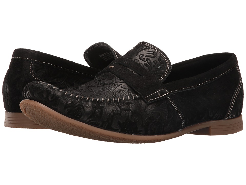 Stacy Adams - Florian (Black Suede) Men's Shoes
