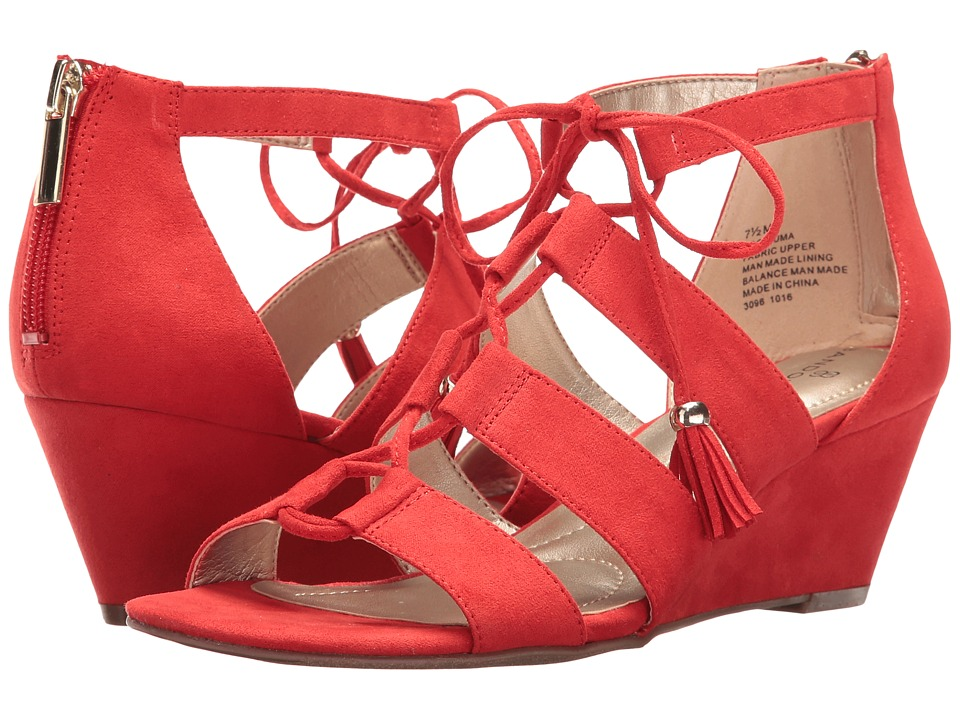 Bandolino - Opiuma (Red Faux Suede) Women's Sandals