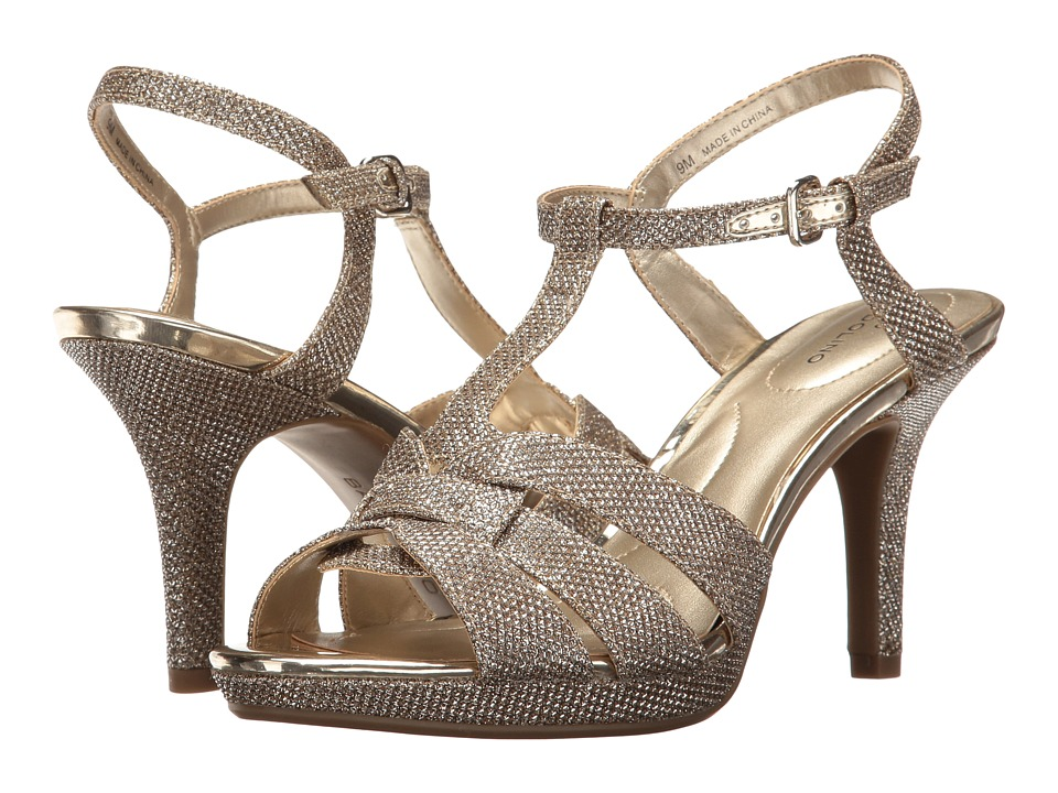 Bandolino - Sarahi (Gold Glamour Material) Women's Sandals
