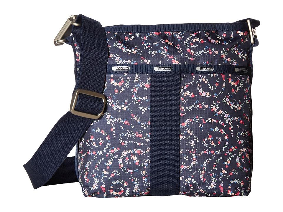LeSportsac - Essential Crossbody (Fairy Floral Blue) Cross Body Handbags