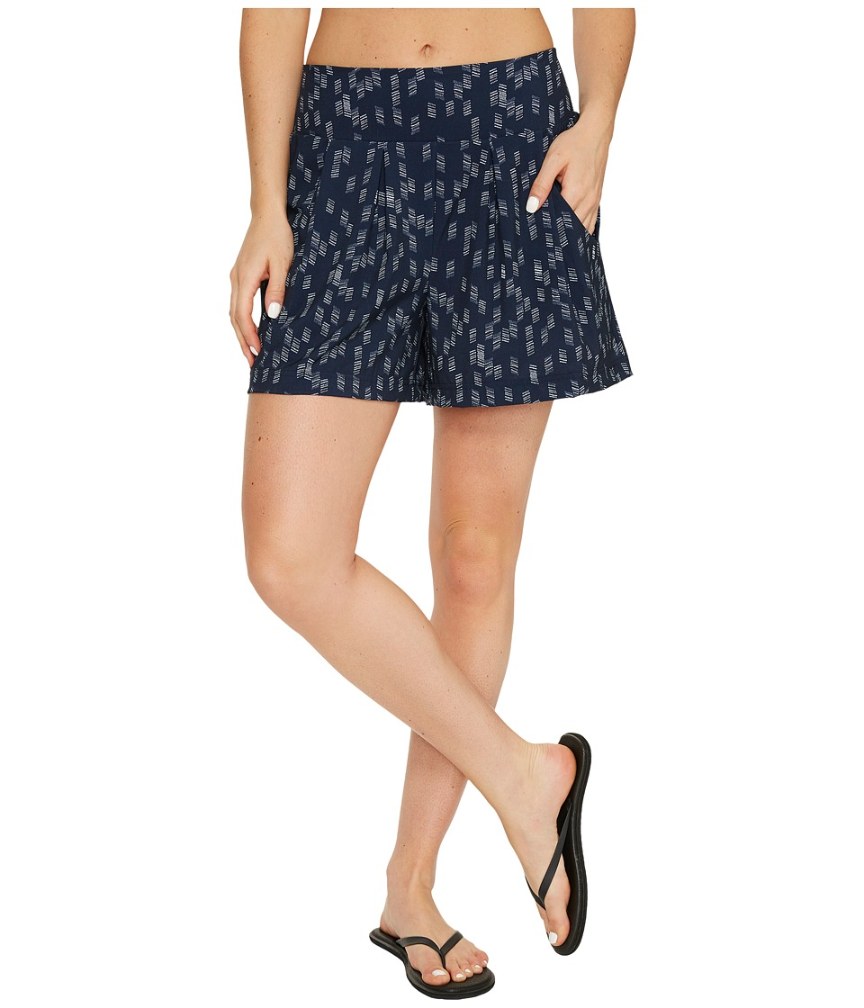 Lucy - Unhindered Culotte Shorts (Lucy Navy/Dove Grey Origami Print) Women's Shorts