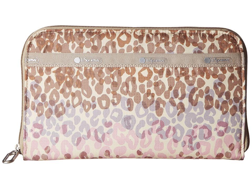 LeSportsac - Everyday Wallet PRT (Cheetah Cascade) Wallet Handbags