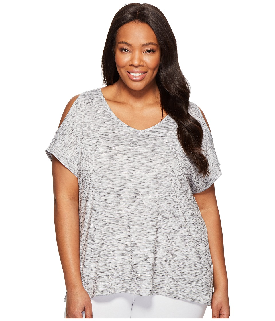 Marika Curves - Plus Size Elsa Cold Shoulder T-Shirt (Heather Grey) Women's T Shirt