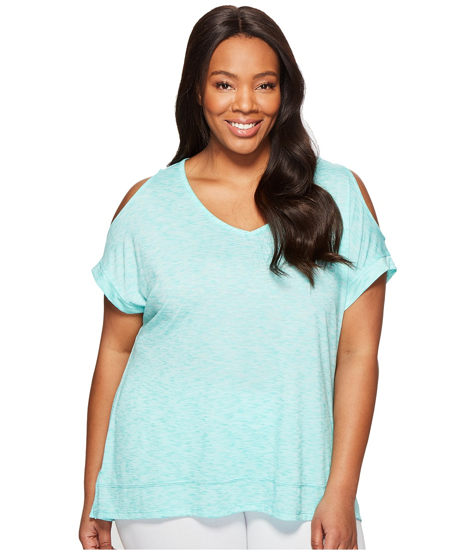 Marika Curves - Plus Size Elsa Cold Shoulder T-Shirt (Mint Eclipse) Women's T Shirt