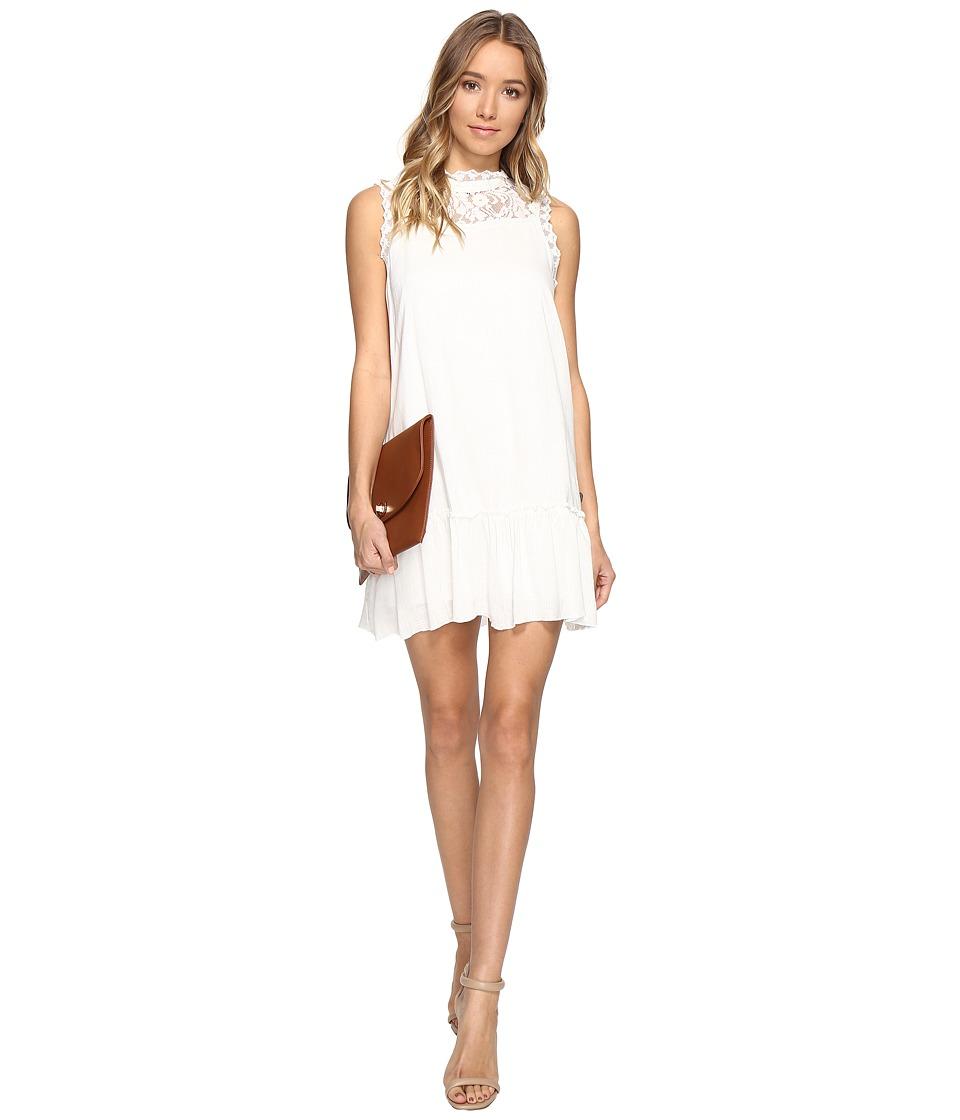 Jack by BB Dakota - Barnes Slub Gauze Lace Dress with Ribbon Trim (Ivory) Women's Dress