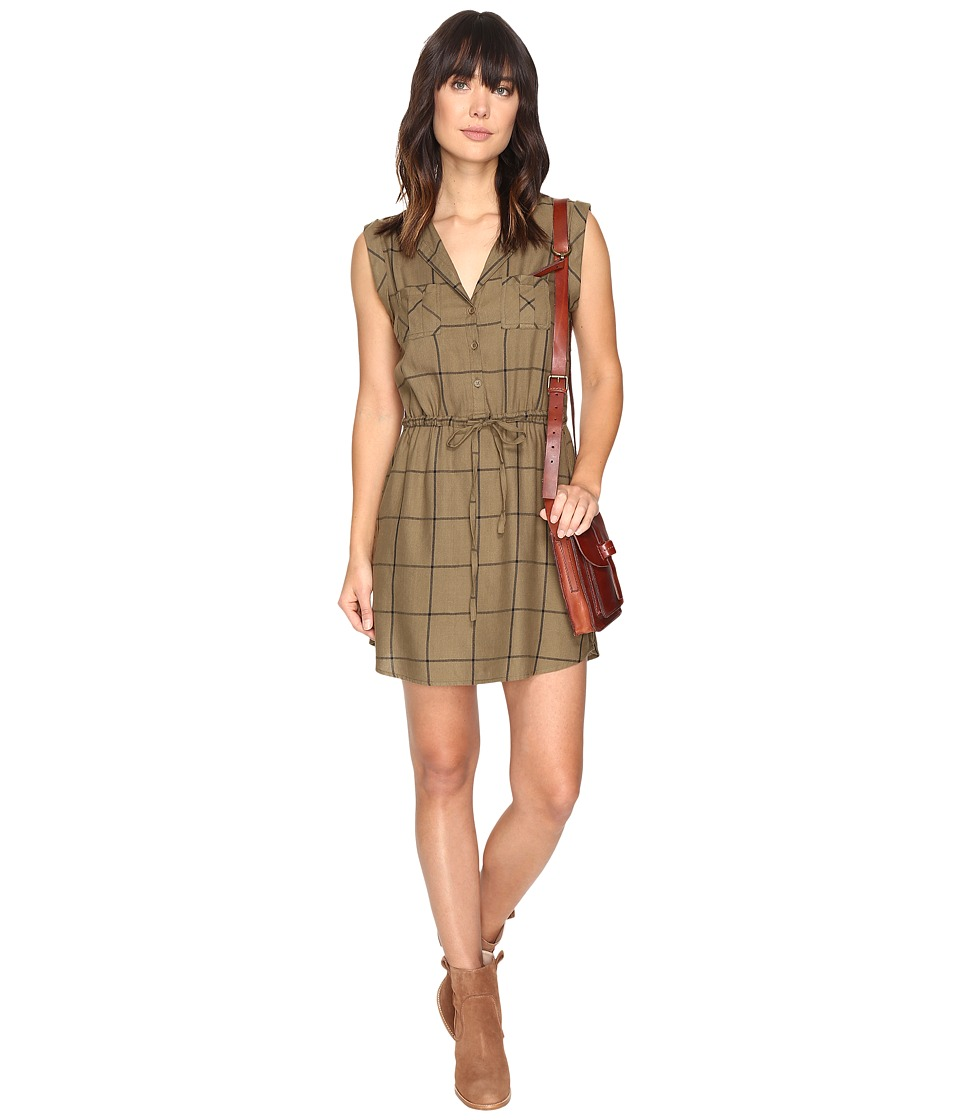 Jack by BB Dakota - Janis Plaid Dress (Fern Green) Women's Dress
