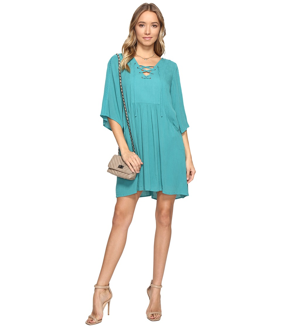Jack by BB Dakota - Becton Lace-Up Dress (Jade Green) Women's Dress