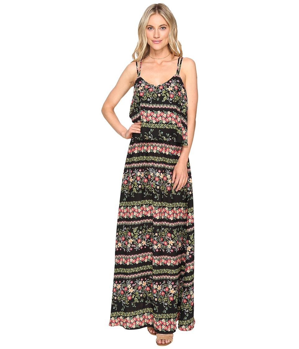 Jack by BB Dakota - Dixon Printed Maxi Dress (Black) Women's Dress