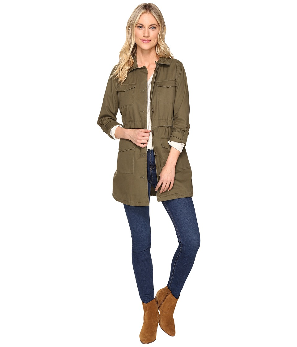 Jack by BB Dakota - Antigone Heavy Canvas Washed Utility Coat (Fern Green) Women's Coat