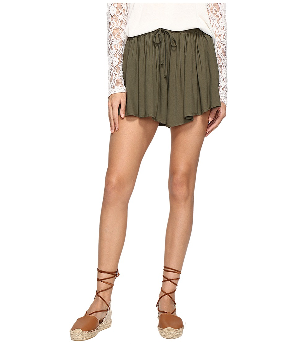 Jack by BB Dakota - Calla Drapey Shorts (Fern Green) Women's Shorts