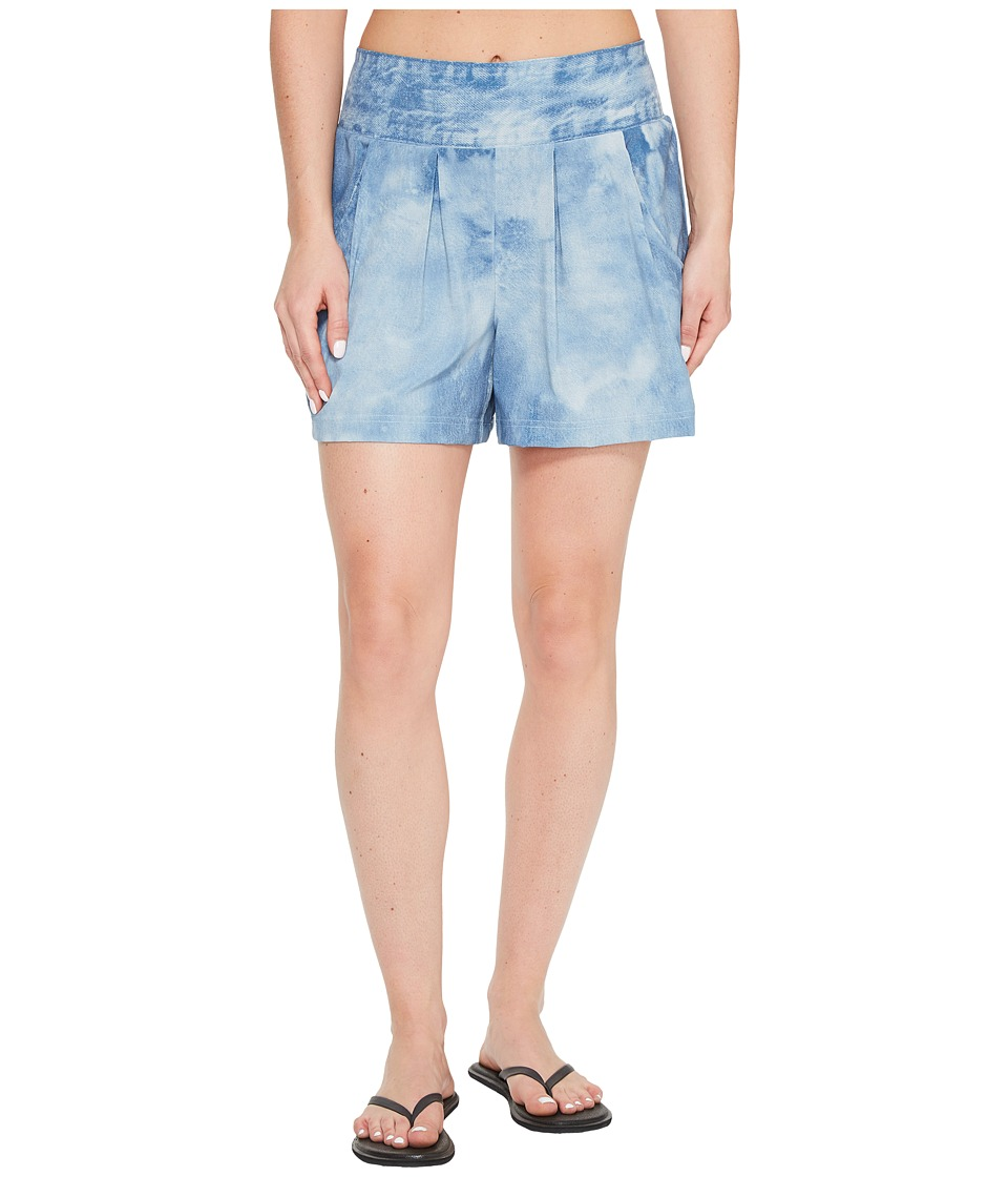 Lucy - Culotte Shorts (Bleached Indigo) Women's Shorts