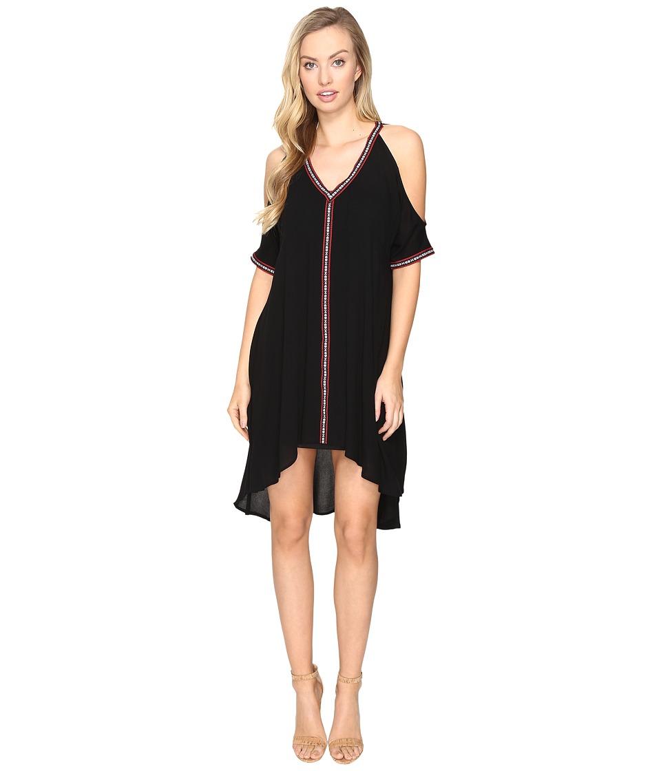 Jack by BB Dakota - Arik Cold Shoulder Dress with Novelty Ribbon Trim (Black) Women's Dress