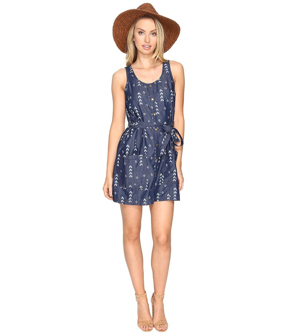 Jack by BB Dakota - Tavon Printed Chambray Snap Front Dress (Lapis Blue) Women's Dress