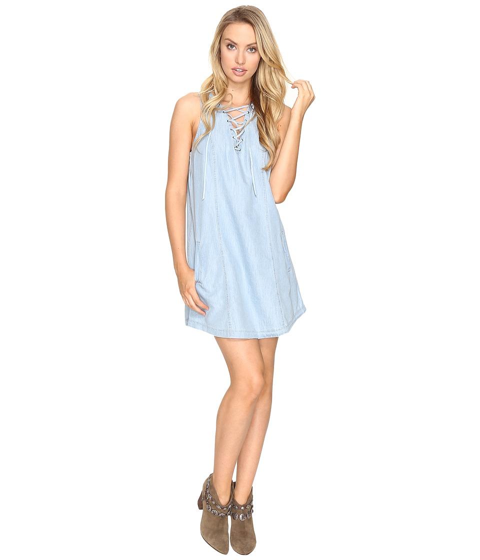 Jack by BB Dakota - Gilbert Lace-Up Dress (Washed Out Chambray) Women's Dress