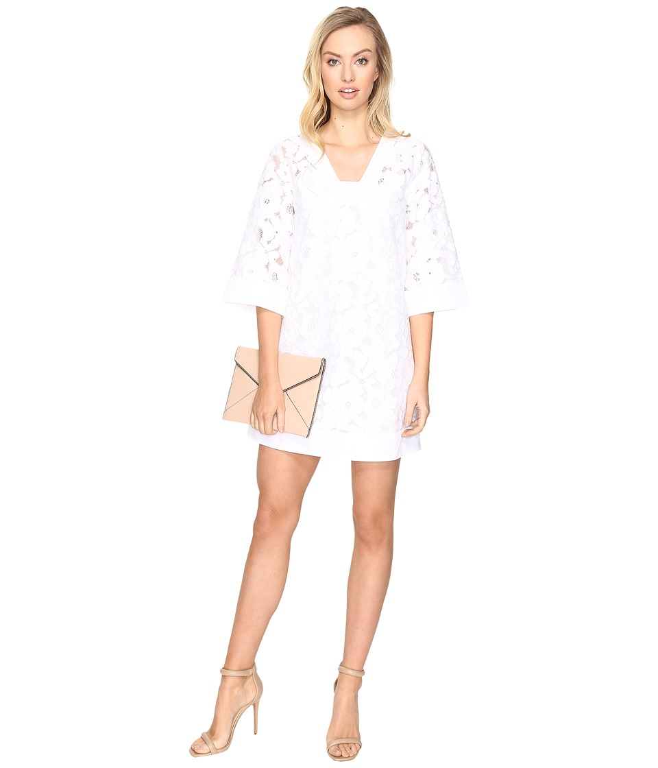 Jack by BB Dakota - Terron Floral Eyelet Shift Dress (Bright White) Women's Dress